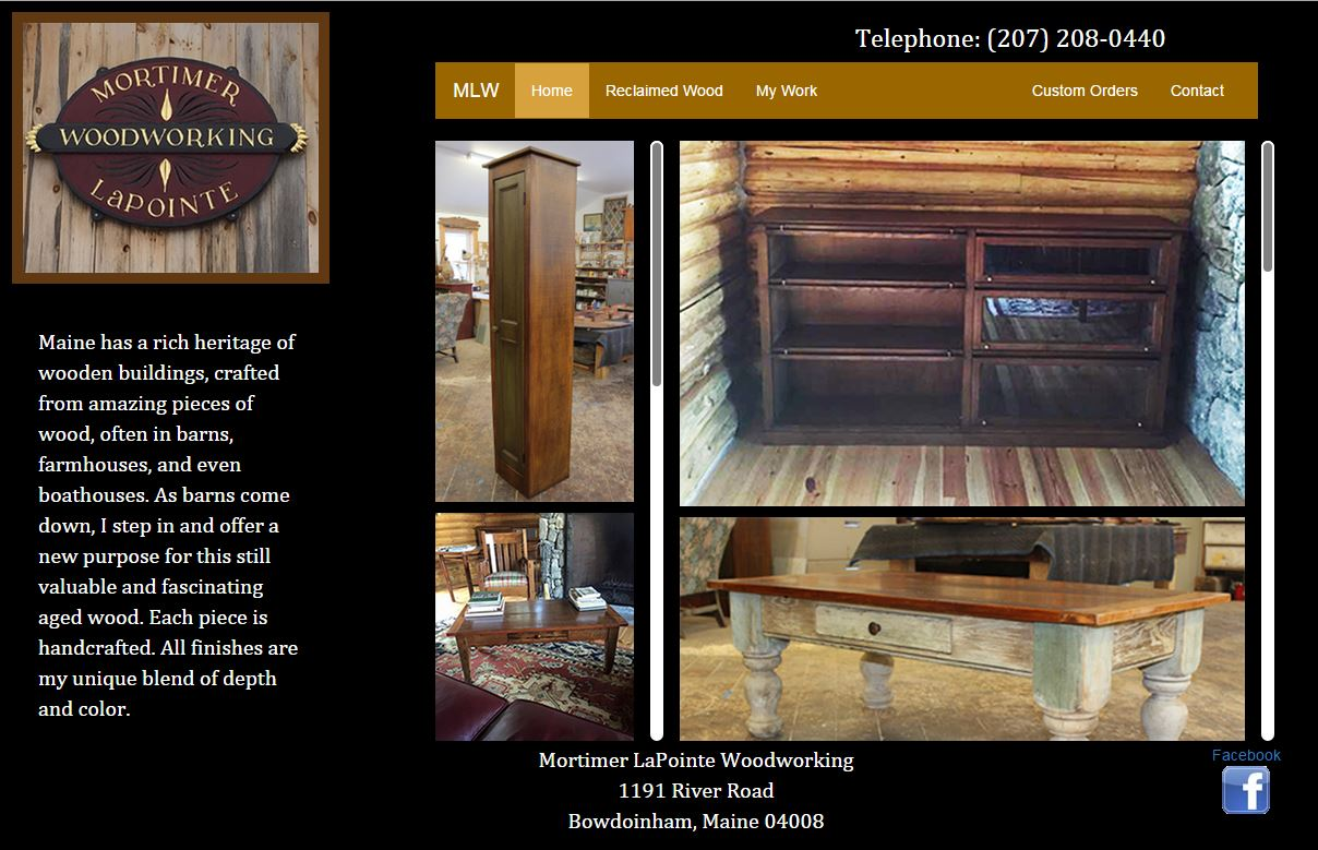 Mortimer LaPointe Woodworking Screen Shot